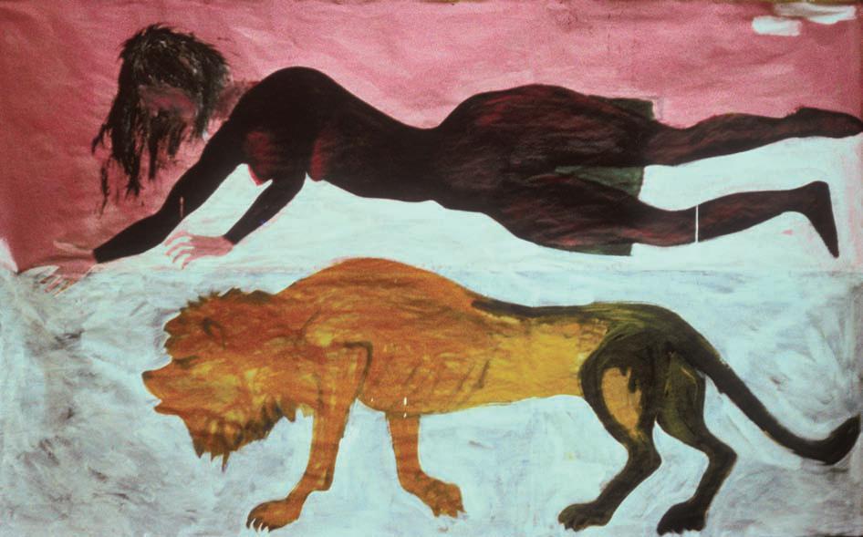 1985, 200x300cm, akryl na papierze / acryl on paper