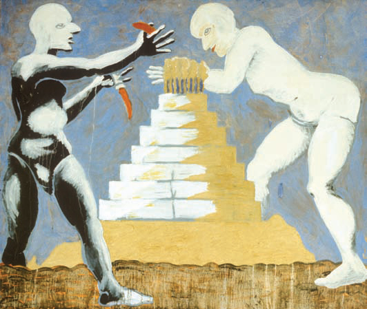 1985, 150x180cm, tempera jajkowa na płótnie / egg tempera on canvas