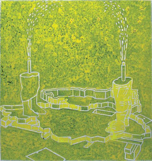 2012, 133x125 cm, tempera jajkowa na płótnie / egg tempera on canvas