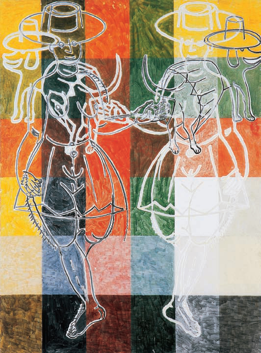 1996, 200x150cm, tempera jajkowa na pleksi / egg tempera on plexiglass