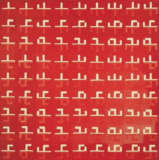 1981, 136x136cm, tempera jajkowa