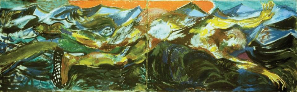 1986, 90x360cm, olej na płótnie / oil on canvas